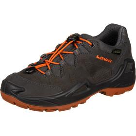 Lowa Diego GTX Chaussures à tige basse Enfant, anthracite/orange